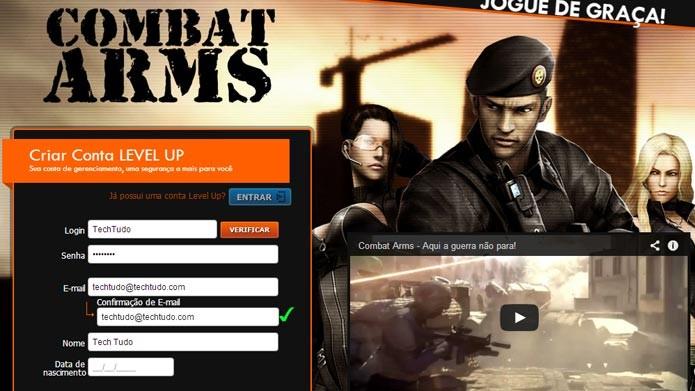 c31411dd50d Combat Arms  saiba como criar uma conta no famoso FPS Online (Foto   Reprodução