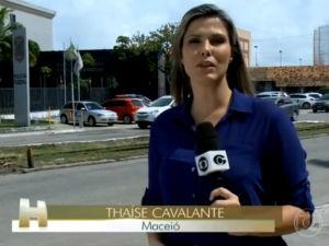 Thaíse Cavalcante em reportagem para o Jornal Hoje  (Foto: Reprodução/ Rede Globo)