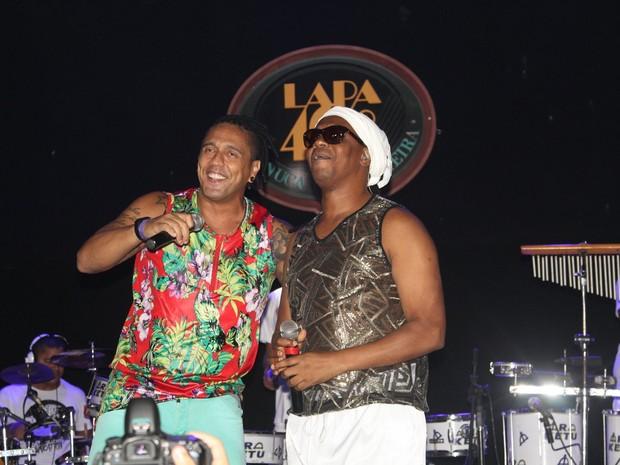 Banda Araketu em show no Centro do Rio (Foto: Anderson Borde/ Ag. News)