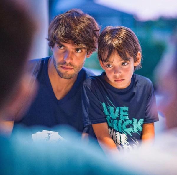 Kaká e o filho, Luca Celico Leite (Foto: Reprodução / Instagram)