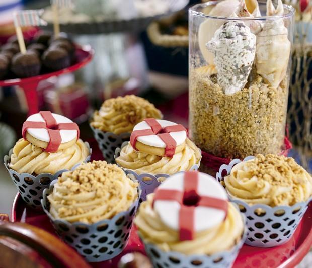 Cupcakes de paçoca. (Foto: Elisa Mendes/GNT)