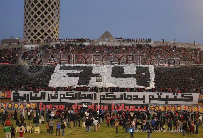 Al Ahly torcida mosaico (Foto: Reprodução / Twitter)