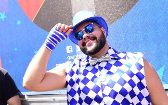 Tiago Abravanel também faraá show no camarote   (Foto: Divulgação)