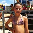 'Quero ser Garota Verão', diz menina (Rafaella Fraga/G1)