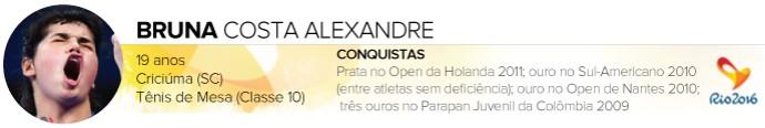 Headers_ATLETAS-PARALIMPICOS_Rio-2016_BRUNA-ALEXANDRE (Foto: Infoesporte)