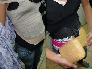 Droga estava dividida em tabletes, escondidos debaixo de várias camadas de rouba (Foto: PRF/Divulgação)