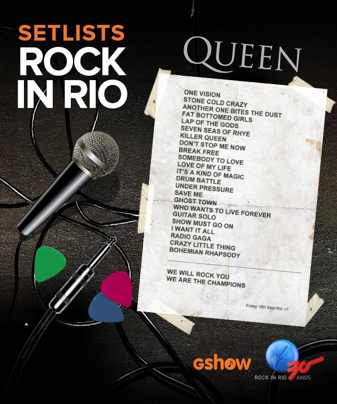 setlist queen (Foto: Gshow)