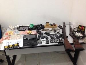 Material foi apreendido na operação. (Foto: Divulgação/Defesa Social)