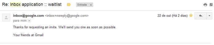 Inbox precisa enviar convite para usuário poder usar (Foto: Reprodução/Aline Jesus)