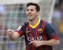 Messi faz três e vira maior artilheiro do Barcelona em 7 a 0 sobre o Osasuña