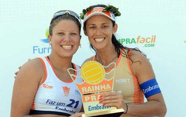 Rebecca e Talita vôlei rainha da praia 2013 (Foto: Mauricio Kaye / CBV)
