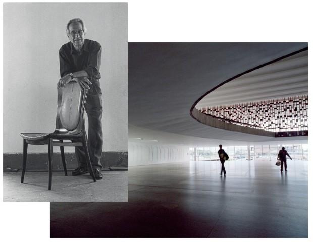 Schuster lança móveis em homenagem aos 50 anos do Itamaraty (Foto: Agência O Globo (retrato Bernardo Figueiredo, Anita Back/Laif/Glow Images (Palácio do Itamaraty))