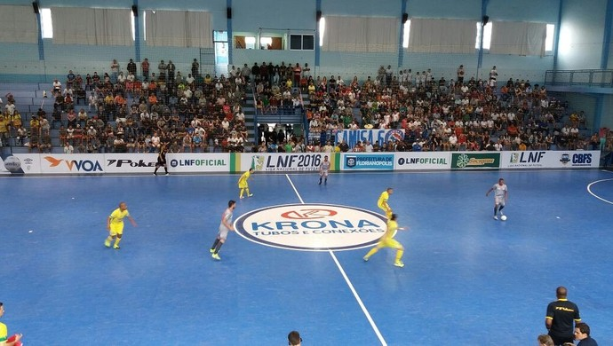 Floripa Marechal Rondon Liga Nacional de Futsal (Foto: Renan Schlickmann/Divulgação)