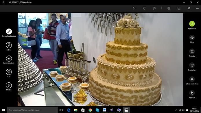 Windows 10 tem aplicativo de fotos com ferramentas de edição (Foto: Reprodução/Elson de Souza)