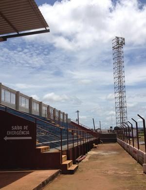 Estádio Municipal João Saldanha, em Guajará-Mirim (Foto: Junior Freitas)