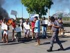 Protesto de moradores fecha a Rodovia do Contorno na Serra