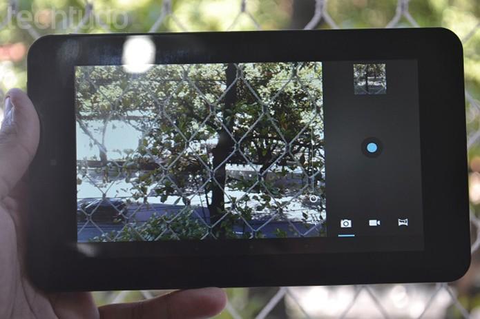 Interface da câmera no Slate 7, um de seus pontos negativos (Foto: Reprodução/Thiago Barros)