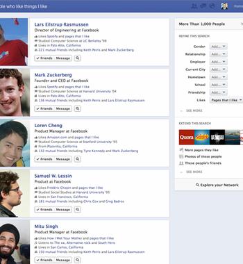 Busca Social, ferramenta nova de buscas do Facebook (Foto: Divulgação)