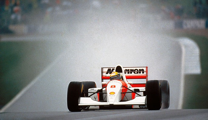 Ayrton Senna Donington Park 1993 (Foto: Norio Koike/ASE)