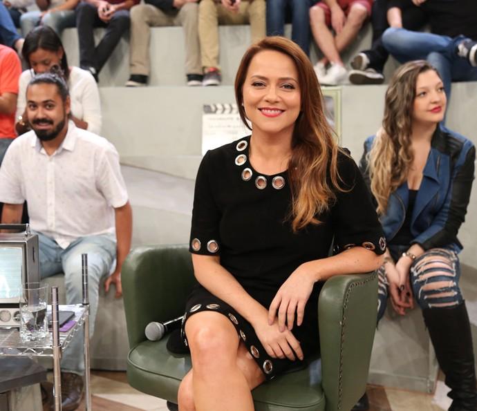 Vivianne Pasmanter participa do programa Altas Horas (Foto: Carol Caminha/Gshow)