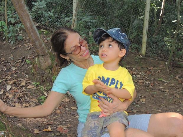 Inêz gosta muito de brincar com os filhos e com os netos (Foto: Arquivo Pessoal)