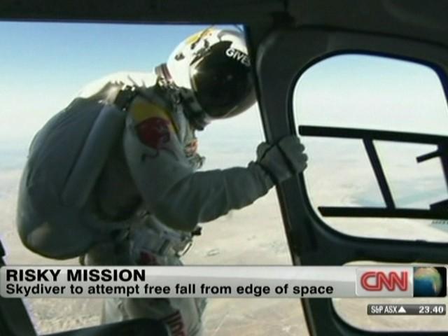 Felix Baumgartner  (Foto: Reprodução Globo News)