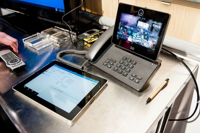 Cisco (Foto: Aparelhos de telefonia da Cisco muito utilizados em todo o mundo (Divulgação/ Facebook/ Cisco))