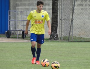 Lucas Silva treino Cruzeiro (Foto: Gabriel Duarte)