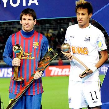 messi neymar xavi premiação mundial de clubes (Foto: Agência AFP)