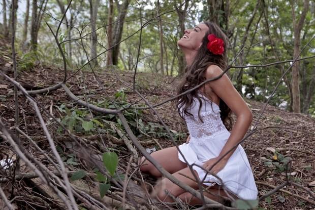 Geórgia Busgaib em foto exclusiva de seu ensaio como 'Gabriela' (Foto: Caldeirão do Huck / TV Globo)