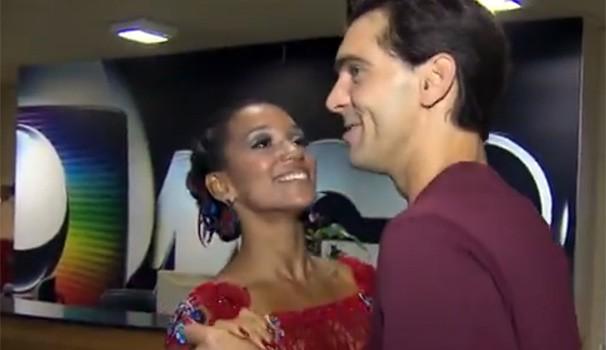 Giba Dança dos Famosos (Foto: Reprodução/ RPC TV)