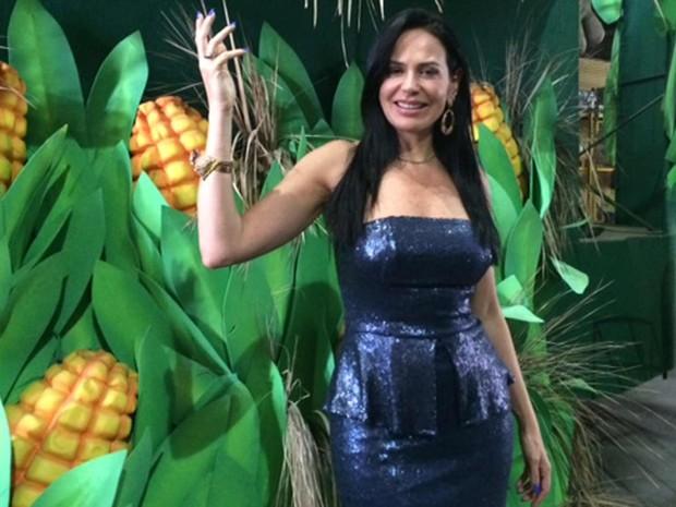 A empresária Cozete Gomes vai ser a rainha da colheita do milho na Unidos da Tijuca (Foto: Alba Valéria Mendonça/ G1)