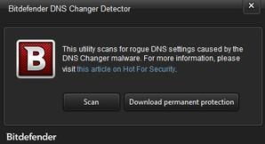 Bitdefender DNS Changer Detector