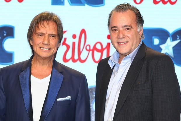 Roberto Carlos e Tony Ramos (Foto: Manuela Scarpa/Photo Rio News  )
