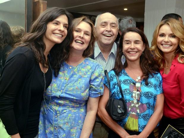 Helena Ranaldi, Louise Cardoso, Mauro Mendonça, Lucélia Santos e Rita Guedes em teatro na Zona Sul do Rio (Foto: Cristina Granato/ Divulgação)