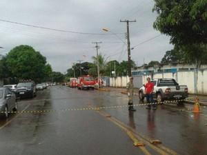 Rebelião cadeia pública de Maracaju MS (Foto: Camilla Jovê/TV Morena)