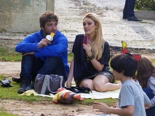 Megan e Davi entrosados (Foto: Geração Brasil/TV Globo)