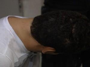 Dois são presos suspeitos de integrar quadrilha de hackers (Foto: Reprodução/TV Anhanguera)