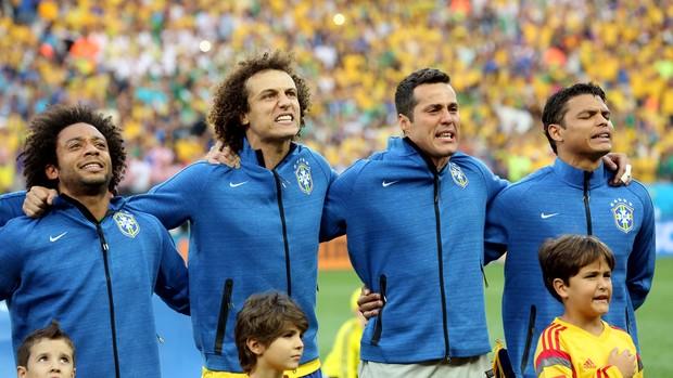 Seleção Brasileira Hino Brasil x Croácia Copa do Mundo (Foto: Marcos Ribolli)