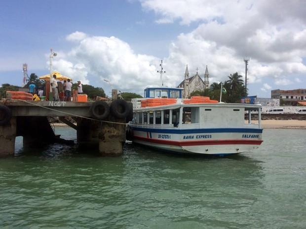 fbdc814a5784 Segundo Astramab, não há profundidade no terminal de Vera Cruz com maré  baixa (Foto