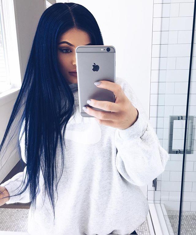 Kylie Jenner: cabelo azul? (Foto: Reprodução/Instagram)