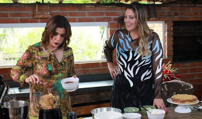 Marilucy Cardoso fez cheesecake de nutella (Foto: Reprodução TV Diário / Nicolas Puglisi)