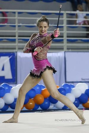 Natália Gaudio, ginasta capixaba (Foto: Ricardo Bufolin/CBG)