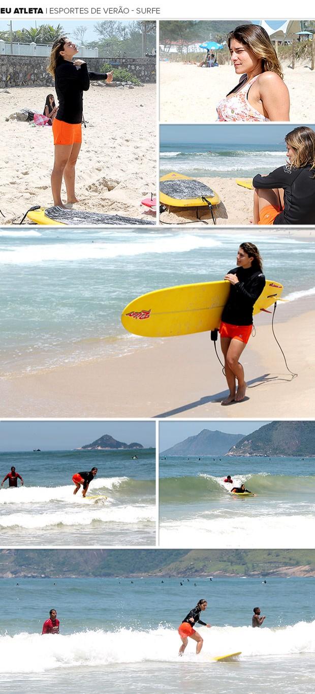 Mosaico Eu Atleta surfe esporte de verão Priscila Fantin parte 1 (Foto   Editoria de a03814efc1