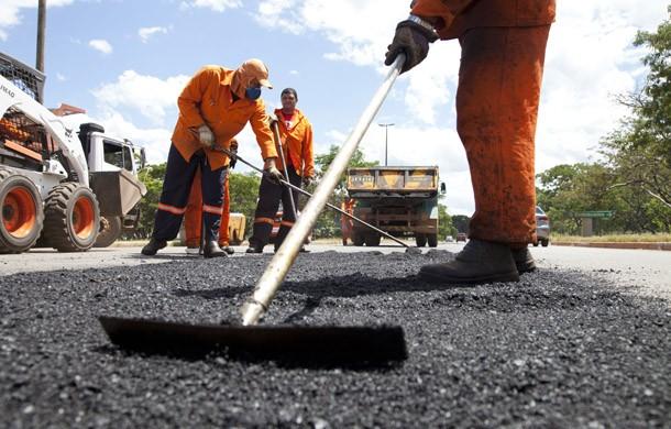 Tapa-buraco; asfalto (Foto: Divulgação/ Prefeitura de São Paulo)