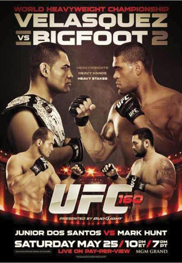 Pôster do UFC 160 (Foto: Reprodução)