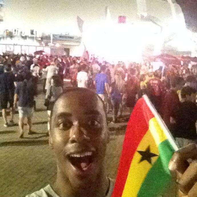 Americano do Fla reforça torcida pela seleção de Gana