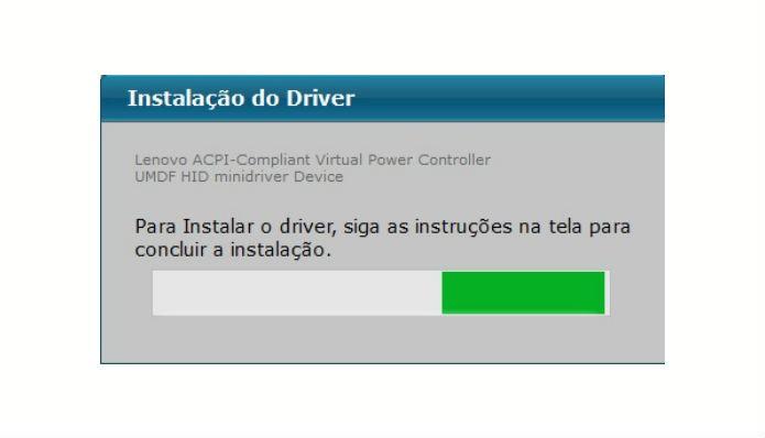 Programa inicia download de drive (Reprodução/Rafaela Antunes)
