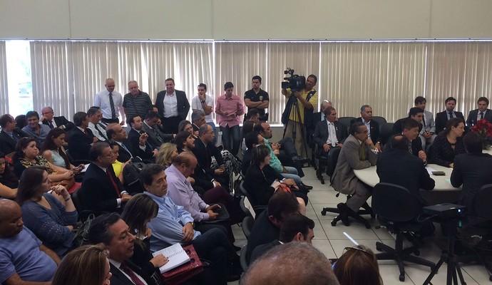 Audiência Guarani Bugre Brinco de Ouro Justiça do Trabalho (Foto: Murilo Borges)