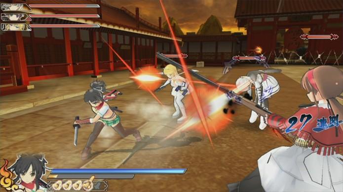 As ninjas de Senran Kagura Shinovi Versus chegam agora também para o PS Vita (Foto: Pocket Gamer)